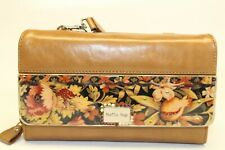 Stella Page Limited Edition NEW Brown Leather Clutch Wristlet Checkbook Wallet