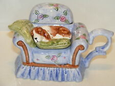 Antique Style Dog On Chair Teapot