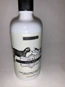 Beekman 1802 Pure Goat Milk Hand & Body Wash FRAGRANCE FREE No Pump 12.5 oz New