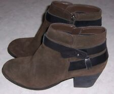 "DOLCE VITA Jaxen Womens Size 9M Brown Suede Fashion Ankle Boots 2 1/4"" Heels"