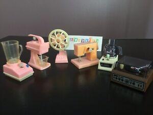 1980s Wind Up Fun Beam Food Processor Barbie Fan Blender Mixer For Repair Lot