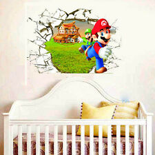 Super Mario Bros Wall Sticker Decal Removable PVC Mural Home Kids Room Decor DIY