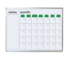 Wall Mounted Calendar Whiteboard 110X83cm with FREE GIFTS