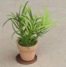 1:12 Scale Light & Dark Green Plastic Plant In Pot Tumdee Dolls House Garden CB3