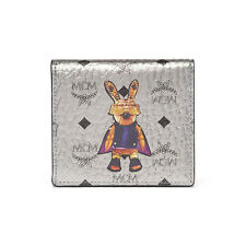 MCM Rabbit Cards Wallet Coated Canvas Material MYA6AXL05SV Silver Color