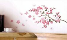 Cherry Blossom Branch Wall Decal 3D Sticker Removable Mural Art Hallway Bedroom