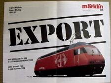 Catalogo Marklin EXPORT-Modells 1992-1993 in scala H0 - DEU ENG  [G99A]