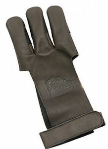 OMP Mountain Man Leather Shooting Glove - Brown Small Brown