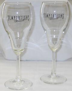 """The Temptations """"Special"""" Album 1989 Promo Pair of Tulip Champagne Glasses"""