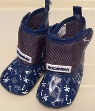Rocawear baby boys blue Pirate themed shoes.