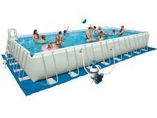 Intex 28372 Ultra Frame 975 x 488 x 132 cm Stahlrahmen Swimming Pool Komplettset