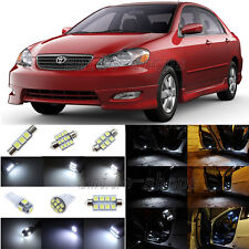 6pcs Xenon White LED Interior Lights Package Fit For 2000-2008 Toyota Corolla