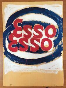 Mario Schifano litografia 50x70 Propaganda firmato numerato timbrato certificato