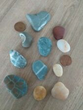 11 mixed Beach Pebbles Stones For Arts and Crafts
