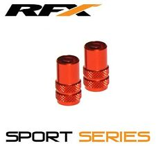 RFX Sport Series Valve Caps Valve Key 2pcs ORANGE KTM SX50 SX65 SX85 SX125 SX150