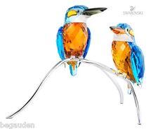 Swarovski Crystal Kingfishers, Blue Turquoise Birds # 945090 - Retired - NIB