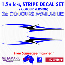 1.5m STRIPE #2 STRIPING 2 colour marine grade decal set.Boat,Car,Caravan graphic
