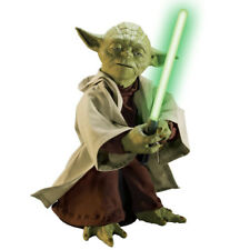 "STAR WARS LEGENDARY JEDI MASTER YODA 16"" INTERACTIVE TALKING FIGURE W/LIGHTSABER"