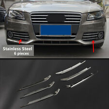 Front Fog Light Cover Trim Grille Decor Stainless Steel For Audi A4 2009-2012