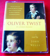 Charles Dickens Oliver Twist 2-Tape Audio Book John Wells
