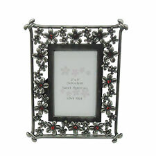 METAL RECTANGULAR PHOTO FRAME GRAY GIFT FOR YOUR LOVE BIRTHDAY ANNIVERSARY