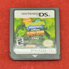 Nintendo Gameboy DS  Sponge Bob Square pants Globs- doom Game Previously Played