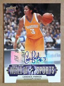 Candace Parker 2011 Upper Deck World Of Sports Autograph Card