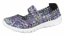 Standard (B) Synthetic Upper Geometric Trainers for Women