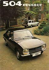 Peugeot 504 1981-82 UK Market Sales Brochure Saloon Estate Family
