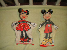 Vintage Gund Mickey & Minnie Mouse Finger Puppets-WDP Hong Kong-J Swedlin