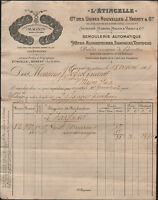 """GERZAT (63) Usine SEMOULERIE ,PATES ALIMENTAIRES L'ETINCELLE """"J. YBERTY"""" en 1909"""