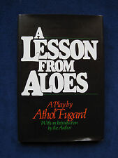 A LESSON FROM ALOES - SIGNED by ATHOL FUGARD - A Play About Apartheid