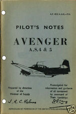 PILOTS NOTES: AVENGER AS4/5 US STRIKE AIRCRAFT 78pps + FREE 2-10 PAGE INFO PACK