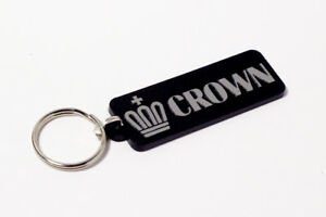 Toyota Crown Keyring - Brushed Chrome Effect Classic Car Keytag / Keyfob