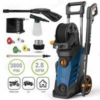 2.8GPM 3800PSI Electric Pressure Washer High Power Cleaner Machine Sprayer New