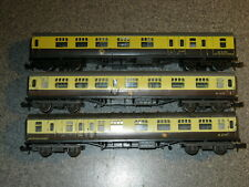 3 Trix N Gauge BR Ex GWR MK1 Brown & Cream Coaches