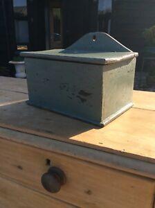 Victorian Painted Pine Salt Candle Box Hanging Kitchen Box