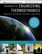 Fundamentals of Engineering Thermodynamics 9th Ed. Shapiro