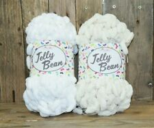 Knitting Yarn Pom Pom Jelly Bean King Cole Macrame Vanilla Cream/Snow White 200g