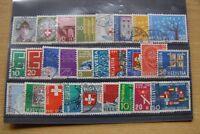 EBM023 SCHWEIZ HELVETIA Lot 1960er ex MiNr 756-8351 Rundstempel/Vollstempel