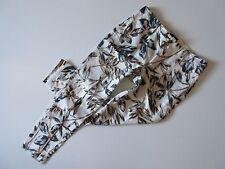 J.Crew Garden Pant in Gold Foil Leaf Linen Slim Ankle Crop Trouser 6 $98