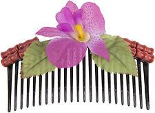 Tiki DACIA Bamboo BAMBUS Orchidee ORCHID HAARKAMM Hair Comb Rockabilly