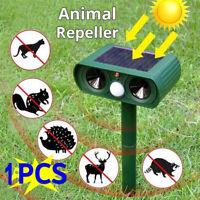 Animal Repeller Ultrasonic Solar Power Outdoor Pest Cat Mice Deer Sensor,