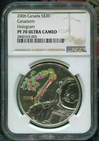2006 CANADA $30 CANADARM - HOLOGRAM - NGC PF70 UC /w ALL PACKAGING  SILVER
