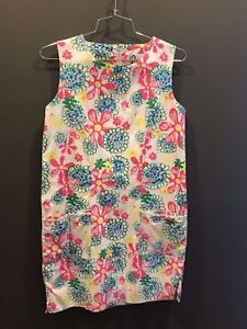 Vintage Lilly Pulitzer CLASSIC SHIFT DRESS sunflower DAISY floral RARE Sz 6 EUC