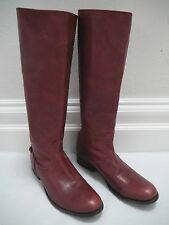 FRYE Melissa Button Back Zip Knee High burgundy leather boots size 9.5