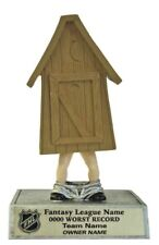 Last Place Fantasy Hockey Gag Outhouse Award Trophy Free Lettering P*52101Gs