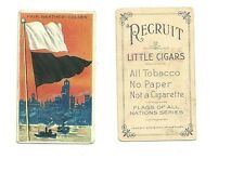 Little cigar tobacco card flags of all nations series fair weather-colder