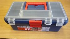 """12.5"""" ZAG PLASTIC TOOL BOX CLEAR LID STORAGE CASE CONTAINER WITH REMOVABLE TRAY"""