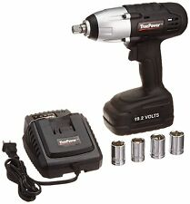 TruePower 300 FT.LBS 1/2 Inch Drive Cordless Impact Wrench Kit, 19.2 Volt